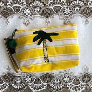 NWT Sequin Palm Tree Cosmetic/Travel Bag